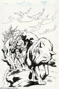 Original Comic Art:Covers, Wendy Pini - Elfquest #14 Cover Original Art (Marvel, 1986). WendyPini really hit her stride with this captivating scene po...