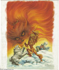 Original Comic Art:Covers, Wendy Pini - Elfquest: Blood of Ten Chiefs #1 Cover Original Art(Tor, 1986). Wendy Pini's unrestrained rendering for the co...