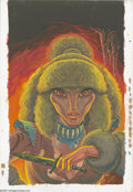 "Original Comic Art:Covers, Wendy Pini - Elfquest: Blood of Ten Chiefs #5 ""Dark Hours"" CoverOriginal Art (Tor Books, 1993). Her name rings through the ..."