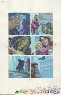 Wendy Pini - Beauty and the Beast: Portrait of Love, page 5 Original Art (First Comics, 1990). A poignant moment where t...
