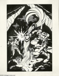 Original Comic Art:Sketches, Wendy Pini - Illustration Original Art (1990). When Roger Stern commissioned creators to render his superhero characters for...