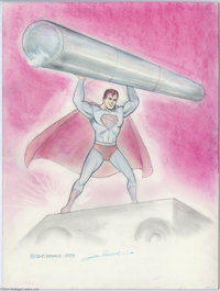 Joe Shuster - Superman Pin-Up Original Art (1983). One of comic's immortal creations, Superman, is spotlighted in this s...