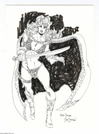 Joe Staton - Red Sonja Sketch Original Art (undated). Comics fans know all about Joe Staton. Co-creator of the fondly re...