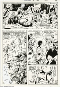 Frank Thorne - Tomahawk #130, page 17 Original Art (DC,1970). Tomahawk and his Rangers are saved from a rear attack by t...