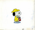 Original Comic Art:Miscellaneous, Melendez Productions - Snoopy Hand Painted Production Cel OriginalArt (undated). Snoopy pops the top on a can of tennis bal...