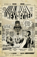 Original Comic Art:Covers, Mort Meskin - Tales of the Unexpected #10 Cover Original Art (DC,1956). Talk about buyer's remorse -- the poor sap who purc...