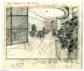 """Original Comic Art:Miscellaneous, MGM Studios - Tom and Jerry """"Cruise Cat"""" Background Drawing Original Art (MGM, 1952). The comedy duo of Tom and Jerry have g..."""