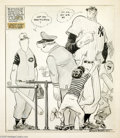 Original Comic Art:Splash Pages, Willard Mullin - Sports Cartoon Original Art, (undated). WillardMullin's baseball cartoons are particularly beloved by coll...