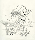 Original Comic Art:Covers, Jorge Pacheco - Casper Cover Original Art (Harvey). Santa's sledhas broken a landing runner, so Casper gives old St. Nick a...