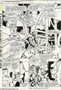 George Perez and Dick Giordano - Crisis on Infinite Earths #1, pages 26 and 27 Original Art (Marvel, 1985). Crisis on In...