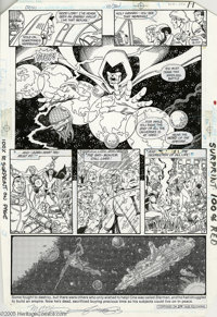 George Perez and Jerry Ordway - Crisis on Infinite Earths #10, page 9 Original Art (DC, 1986). Marv Wolfman revamped DC'...