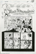 Original Comic Art:Panel Pages, George Perez and Romeo Tanghal - The New Titans #55, page 10Original Art (DC, 1989). At Titans Tower, the New Titans regrou...
