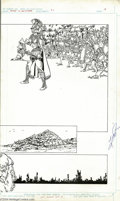 Original Comic Art:Splash Pages, George Perez - History of the DC Universe #1, page 18 and 19 Original Art (DC, 1986). The creative force behind Crisis On ... (Total: 2 Original Art Item)