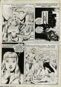 Original Comic Art:Panel Pages, Stanley Pitt - Silver Starr in the Flameworld Page (undated). Telepathic messages and exotic fantasy settings are the highli...