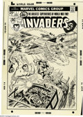 Original Comic Art:Covers, John Romita Sr. - The Invaders #1 Cover Original Art (Marvel,1975). In the darkest days of the Second World War a mysteriou...