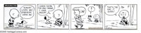 Charles Schulz - Peanuts Daily Comic Strip Original Art, dated 10-3-51 (United Feature Syndicate, 1951). The existential...