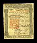 Colonial Notes:Pennsylvania, Pennsylvania April 3, 1772 40s Very Fine-Extremely Fine....