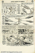 Original Comic Art:Panel Pages, Mike Sekowsky and Bernard Sachs - Justice League of America #17,page 3 Original Art (DC, 1963). Adam Strange appears in a f...