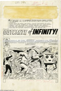 Original Comic Art:Splash Pages, Mike Sekowsky and Bernard Sachs - Justice League of America #25page 1 Original Art (DC, 1964). The Roll Call for this Justi...