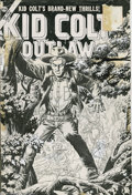 Original Comic Art:Covers, John Severin - Kid Colt Outlaw #63 Cover Original Art (Marvel,1956). Yee-haw! Feast your eyes on this unbeatable Kid Colt...