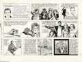 Original Comic Art:Comic Strip Art, Don Sherwood - Dick Clark's Rock Roll and Remember Sunday Comic Strip Original Art, dated 8-6-95 (Olive Enterprises, 1995). ...