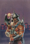Original Comic Art:Sketches, Bill Sienkiewicz - Conan the Barbarian Calendar Painting Original Art (1983). Released as a tie-in to the Arnold Schwarzeneg...
