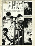 "Original Comic Art:Complete Story, Jack Sparling - Tales of Horror #7 Complete 7-page Story ""Dinky!""Original Art (Toby Press, 1953). Dinky Lewis was a dirty b..."