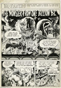 "Original Comic Art:Complete Story, Tom Sutton - Eerie #11 Complete 8-page Story, ""The Monster from One Billion B. C."" Original Art (Warren, 1967). In 1967, Tom..."