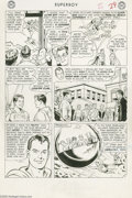 Original Comic Art:Panel Pages, Curt Swan and George Klein - Superboy #117, Story page 7 OriginalArt (DC, 1964). The penultimate page of the cover-featured...
