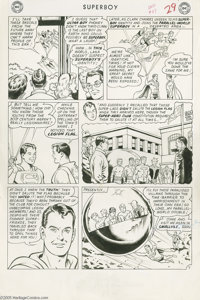 Curt Swan and George Klein - Superboy #117, Story page 7 Original Art (DC, 1964). The penultimate page of the cover-feat...