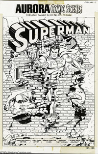 Curt Swan and Frank Giacoia - Aurora Comic Scenes: Superman Complete 8-page Story Original Art (Aurora, 1974). Now here'...