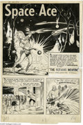 Original Comic Art:Splash Pages, Al Williamson and George Evans - Jet Powers #3, page 1 Original Art(Magazine Enterprises, 1951). Space Ace runs the gauntle...