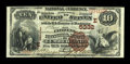 National Bank Notes:Maryland, Cumberland, MD - $10 1882 Brown Back Fr. 490 The Citizens NB Ch. #(E)5332. ...