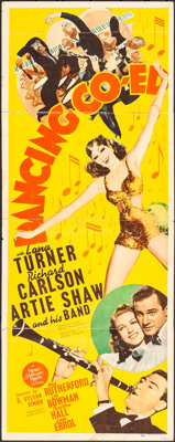 "Dancing Co-Ed (MGM, 1939) Folded, Very Good. Insert (14"" X 36""). Comedy"