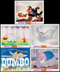 """Movie Posters:Animation, Dumbo (Buena Vista, R-1972) Very Fine+. Title Lobby Card & Lobby Cards (4) (11"""" X 14""""). Animation.... (Total: 5 Items)"""