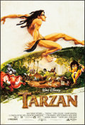 "Movie Posters:Animation, Tarzan (Buena Vista, 1999) Rolled, Very Fine/Near Mint. One Sheets(2) (27"" X 41"") DS Advance and Regular. Animation.... (Total: 2Items)"