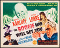 """Movie Posters:Horror, The Boogie Man Will Get You (Columbia, 1942) Very Fine. Title Lobby Card (11"""" X 14""""). Horror...."""