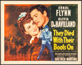 """Movie Posters:Western, They Died with Their Boots On (Warner Brothers, 1941) Fine/Very Fine. Title Lobby Card (11"""" X 14""""). Western...."""