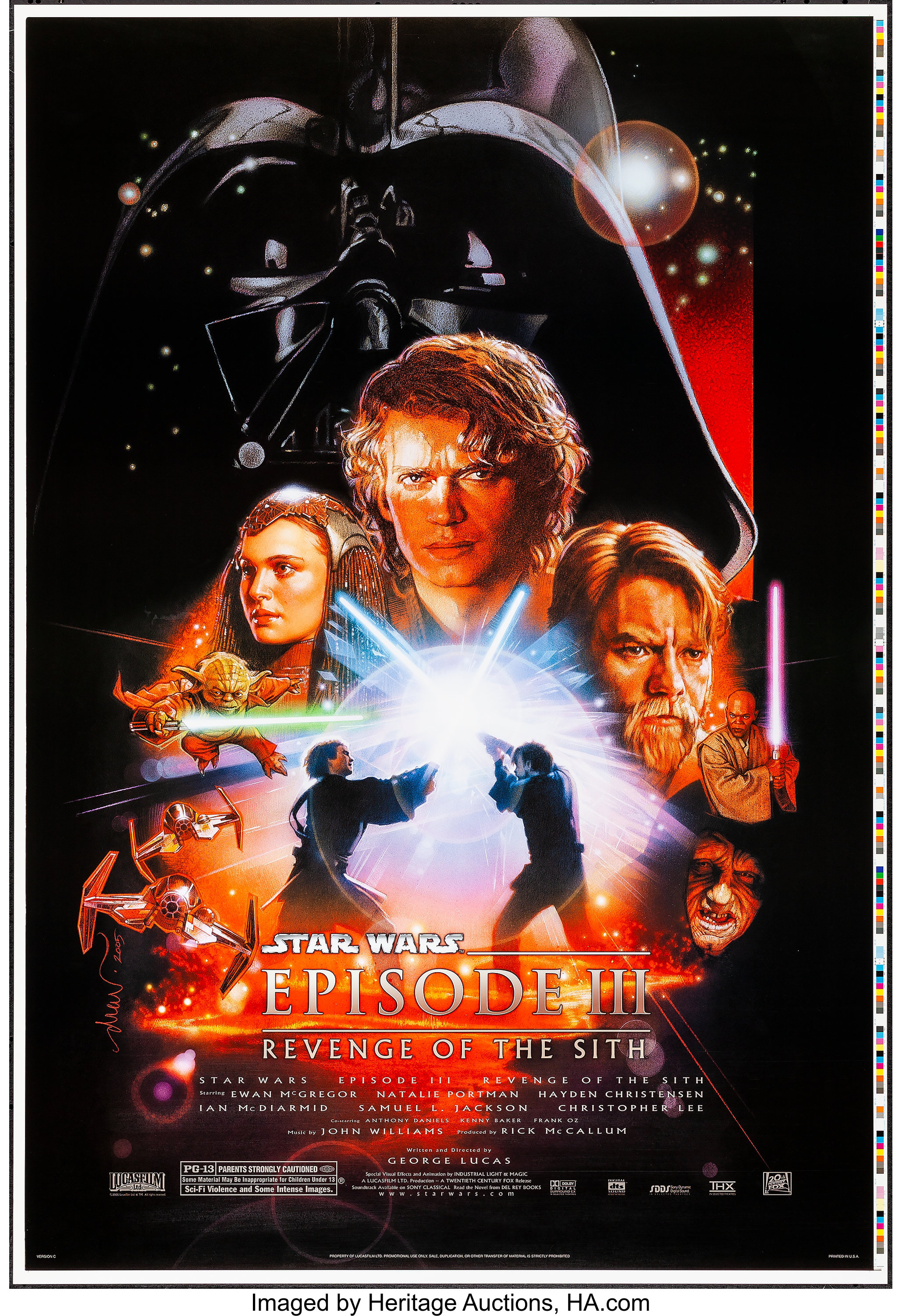 Star Wars Episode Iii Revenge Of The Sith 20th Century Fox Lot 54341 Heritage Auctions