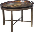 Furniture:Other, A Continental Tole Painted Metal Tray Table, late 19th-early 20th century. 20-3/8 x 29-7/8 x 23-3/4 inches (51.8 x 75.9 x 60...