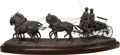 Sculpture, Nicolas Domecq Ybarra (Spanish, 20th Century). Stage Coach, 1992. Bronze with brown patina. 14 inches (35.6 cm) high on ...