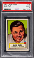 Non-Sport Cards:General, 1952 Topps Look 'N See Babe Ruth #15 PSA Mint 9 - Pop Four, None Higher. ...