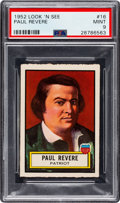 Non-Sport Cards:General, 1952 Topps Look 'N See Paul Revere #16 PSA Mint 9 - Pop Five, None Higher. ...