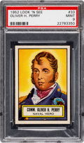 Non-Sport Cards:General, 1952 Topps Look 'N See Oliver H. Perry #33 PSA Mint 9 - NoneHigher. ...