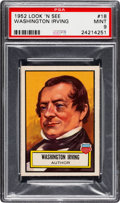 Non-Sport Cards:General, 1952 Topps Look 'N See Washington Irving #18 PSA Mint 9 - Only OneHigher. ...