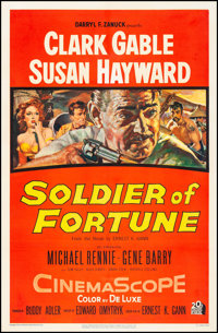 """Soldier of Fortune (20th Century Fox, 1955) Very Fine- on Linen. One Sheet (27"""" X 41""""). Adventure"""