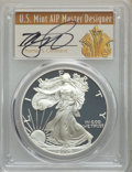 Modern Bullion Coins, 2006 Three-Piece American Silver Eagle 20th Anniversary Set PCGS. All coins are in the ultimate Grade. The inserts are autog... (Total: 3 coins)