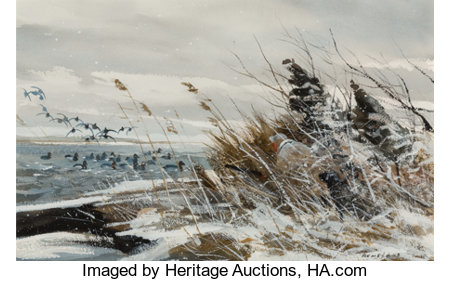 Chet Reneson (American, b. 1934)Over the MarshWatercolor on paper18 x 28 inches (45.7 x 71.1 cm)Signed lower rig...