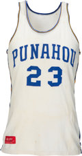 Basketball Collectibles:Others, 1978-79 President Barack Obama Game Worn Punahou (HI) High School Basketball Jersey....