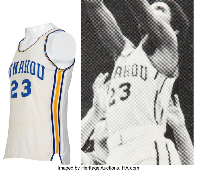 Basketball Collectibles:Others, 1978-79 President Barack Obama Game Worn Punahou (HI) High SchoolBasketball Jersey....